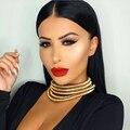 Danfosi Nueva Mismo Diseño de Kim Kardashian Cuello Gargantilla Collares Para Las Mujeres Joyería Declaración Collares Maxi Boho Accesorios N4235 de la