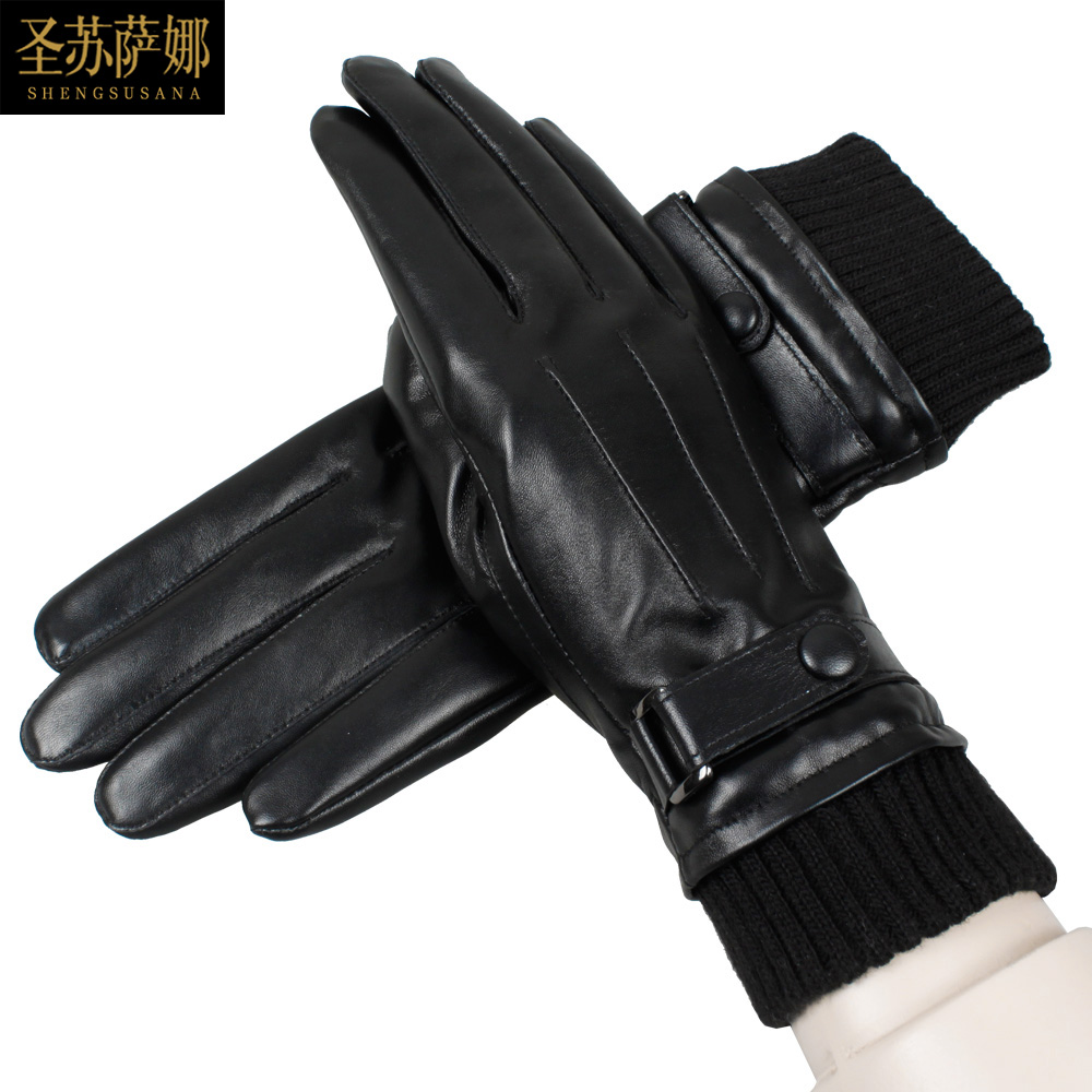 High quality womens leather gloves - Women Winter Gloves Fashion Winter Down Warm Female Elegant Soft Sheepskin Leather Gloves Touch Screen Gloves