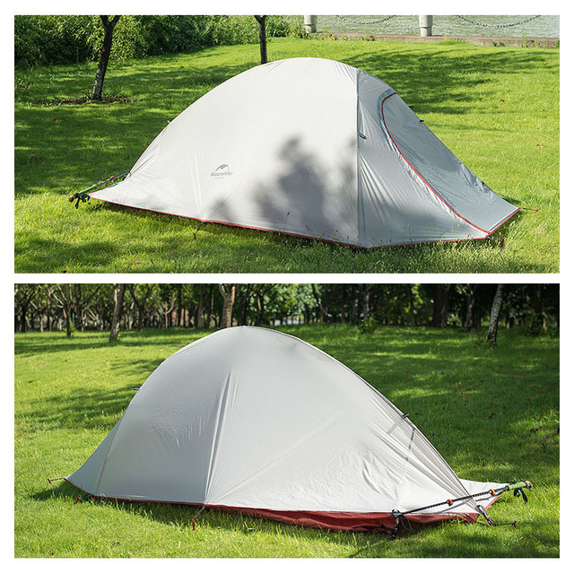 New 2 Person Silicone Coating Double Layer Waterproof PU4000 Tent Aluminum Rod Portable Mountain Single Tents Ultralight 1.5KG