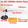 4G Repetidor Repetidor 65db GSM 1800 mhz DCS Mobile Phone Signal Booster Repetidor de Sinal Amplificador Telefone Celular + 13db Antena Yagi