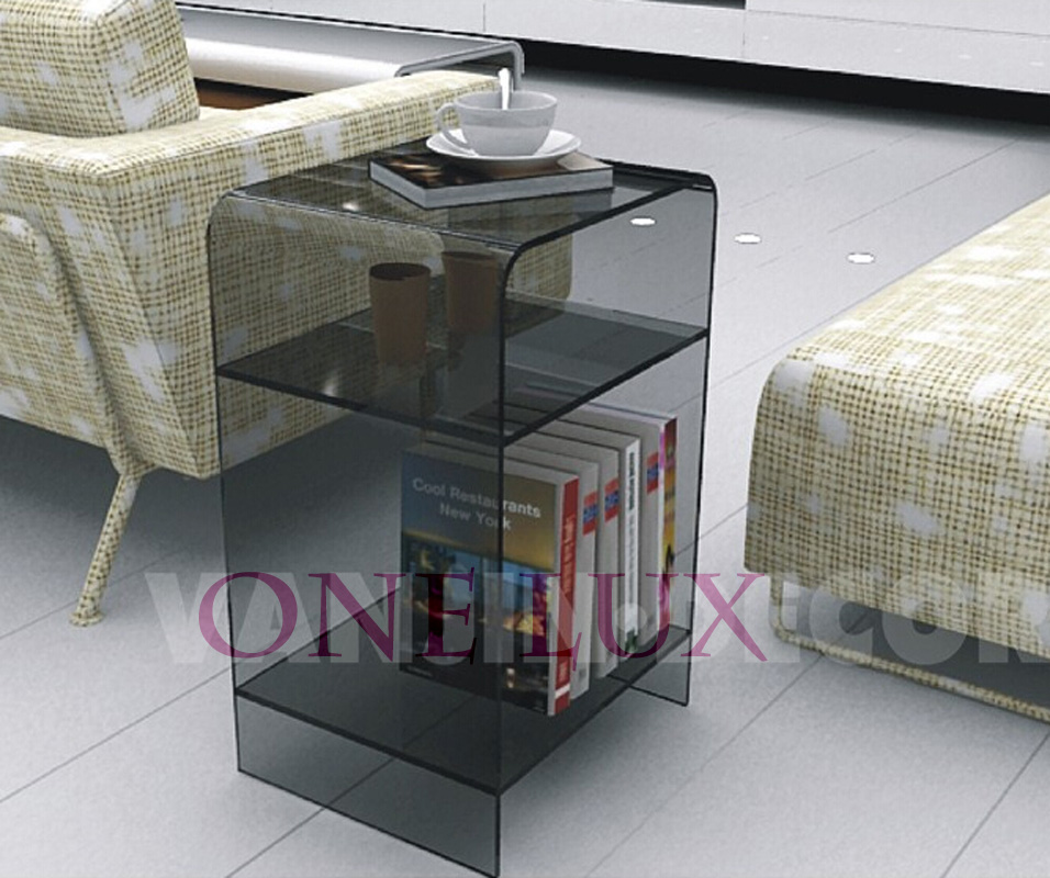 Multi-color Acrylic nightstand with magazine rack, Lucite bedside cabinet table,Plexiglass sofa tables free shipping shelf clear acrylic lucite bedside table plexiglass nightstand