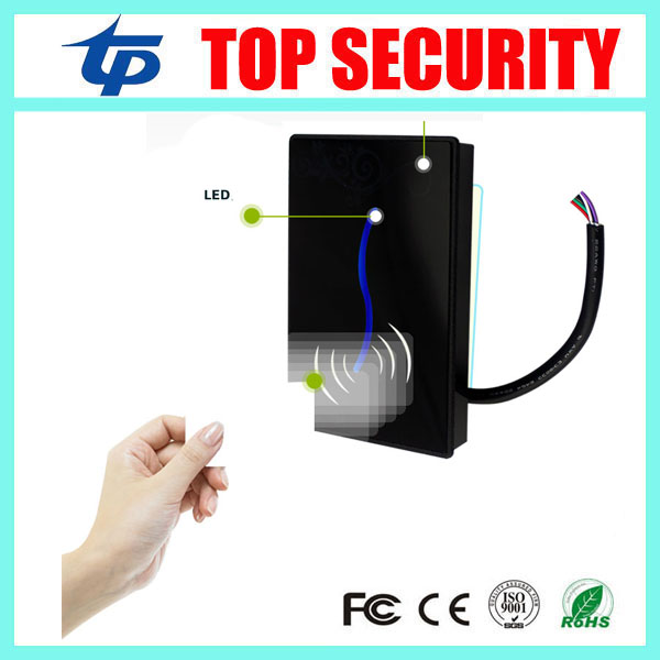 Weigand26 125KHZ RFID card reader for access control system IP65 waterproof smart card reader EM card access control reader waterproof touch keypad card reader for rfid access control system card reader with wg26 for home security f1688a