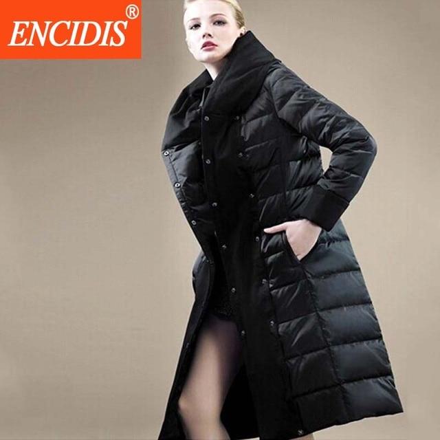 Mulheres Jaqueta de Inverno de alta Qualidade Luxo Para Baixo Casaco 2016 Nova plus Size Mulheres jaqueta de Inverno Casacos de Inverno Magros X-longo Parka M358
