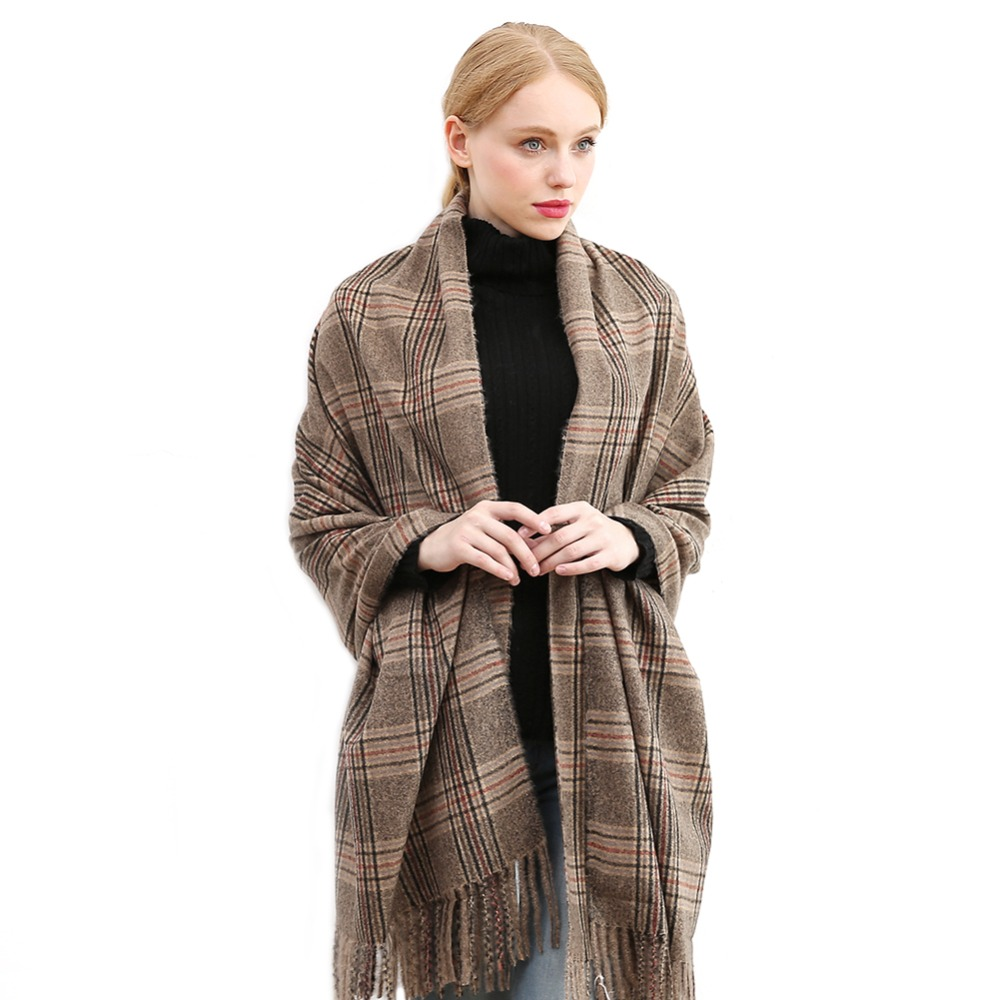 Winter Scarf Pashmina Plaid Lattices Scarves Shawl Wrap Luxury Fashion Scarf Women Men Female Male