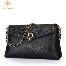 Ludesnoble femenina bolso de cuero genuino de lujo bolsos mujer bolsos diseñador auténticos bolsos de cuero bolso de las mujeres femeninas bolsas feminina