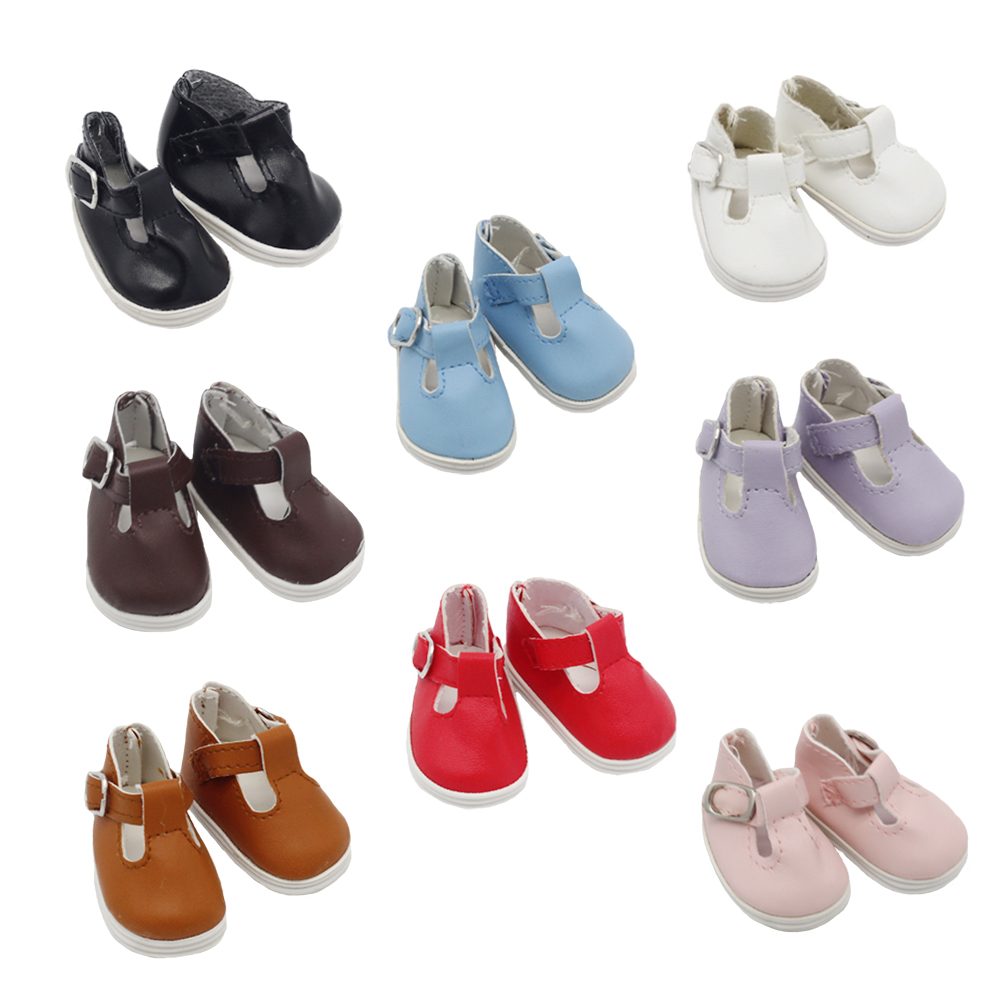 1Pair Fashion Mini Toy Shoes For EXO Dolls Fit 14.5 Inch Baby Dolls As Fit 1/6 BJD Ragdoll Accessories 5*2.8CM