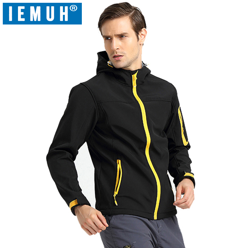 IEMUH Brand New Men Trekking Hiking Outdoor Windproof Sports Softshell Jacket Waterproof ...