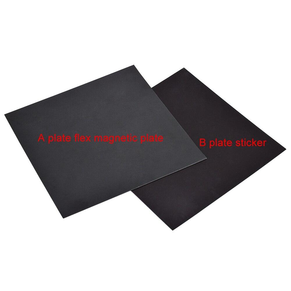 Cinta de cama de impresión magnética 220mm 220 etiqueta engomada de la placa de la cama caliente etiqueta engomada de la placa de construcción cinta flexible placa caliente para piezas de la impresora 3D