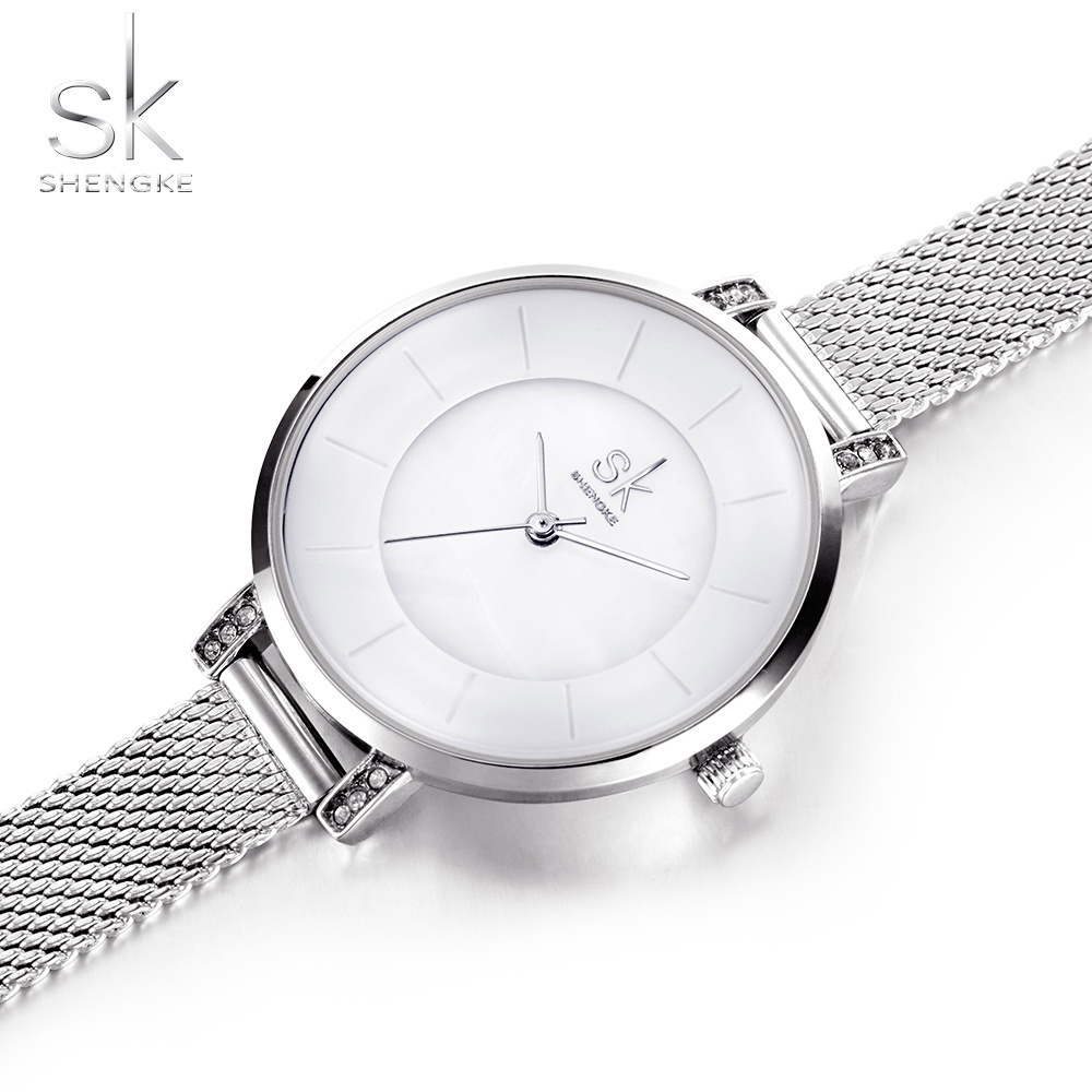 SK Small Dial Women Mesh Band Quartz Watch Famous Luxury Brand Simple Casual Ladies Wrist Watches For Women relogio feminino fashion brand women casual simple chain quartz wristwatches analog dial watch band casual chain wrist watches clock for girls