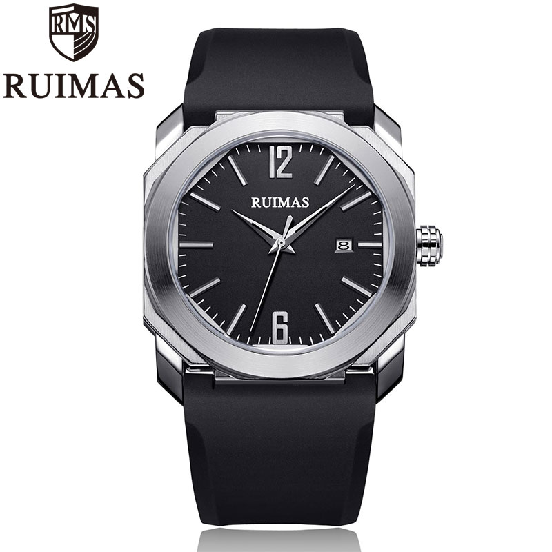 Ruimas Chronograph Mens Sport Watches With Silicone Band Quartz Watch Men Clock Wristwatch Relogio Masculino Reloj HombreRuimas Chronograph Mens Sport Watches With Silicone Band Quartz Watch Men Clock Wristwatch Relogio Masculino Reloj Hombre