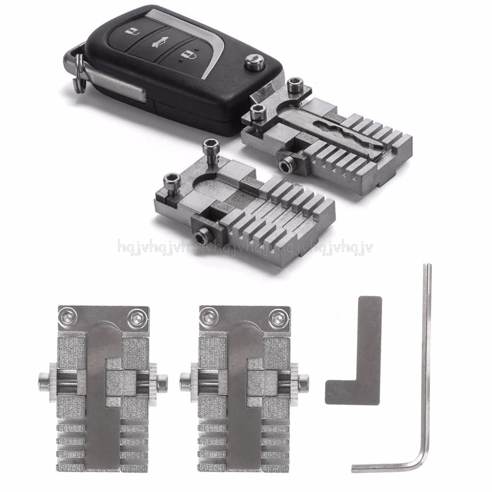 Key Clamping Fixture Duplicating Cutting Machine For Car Key Copy Tool Universal JUL19 Dropship lx 4846 universal key ignition ring decorative sticker for car silver