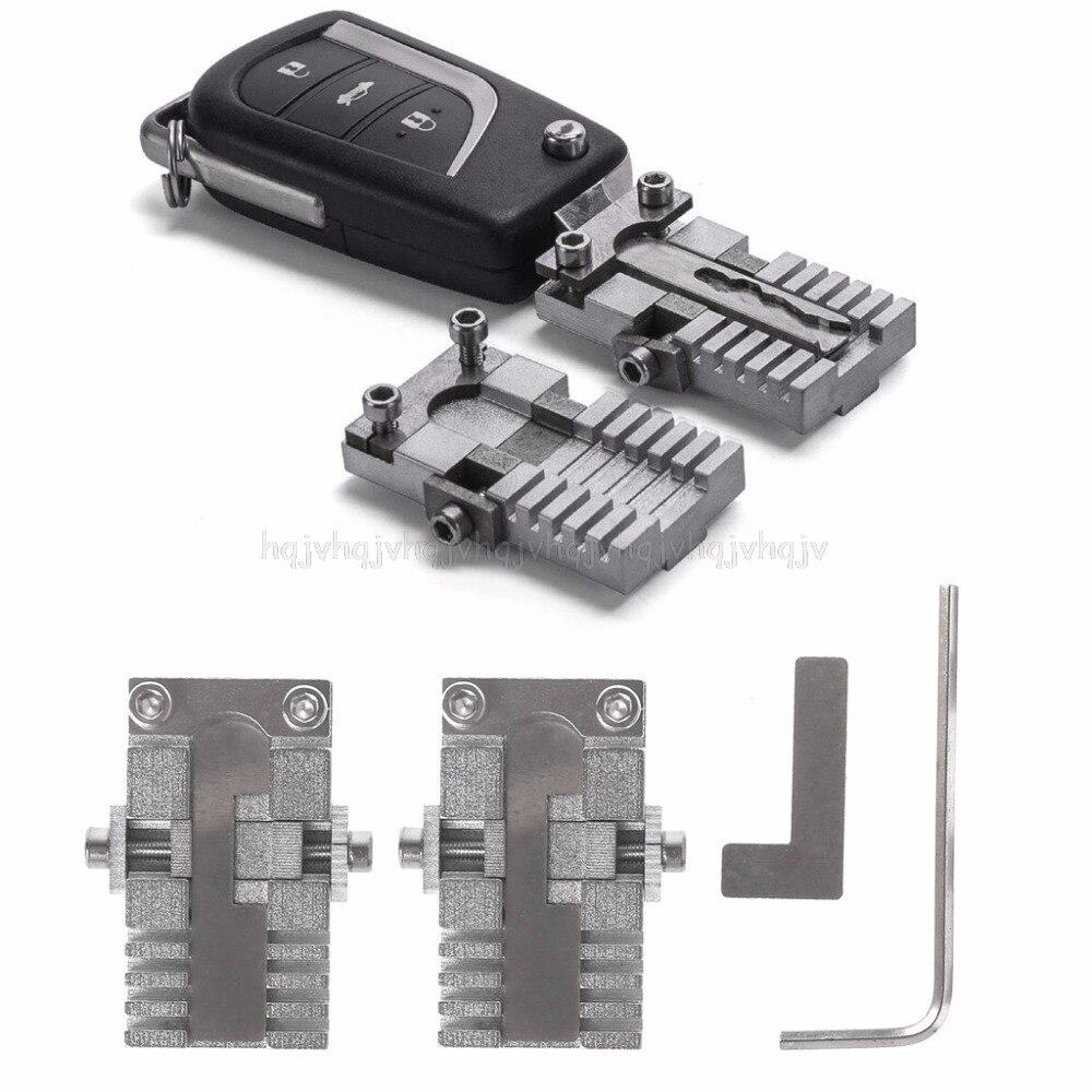 Machine de découpe de duplication de montage de serrage de clé pour outil de copie de clé de voiture universel JUL19 livraison directe