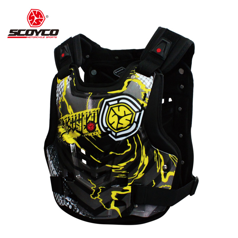 SCOYCO Professional Motocross Off-Road Racing Chest Back Body Protective Gear Guard Motorcycle Riding Armor Protector Vest scoyco motorcycle riding knee protector bicycle cycling bike racing tactal skate protective gear extreme sports knee pads