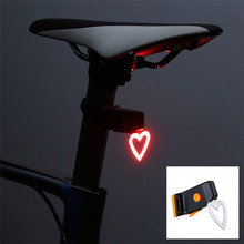 1pcs Portable USB Rechargeable Bike Bicycle Tail Rear Safety Warning Light Taillight Lamp Super Bright Creative
