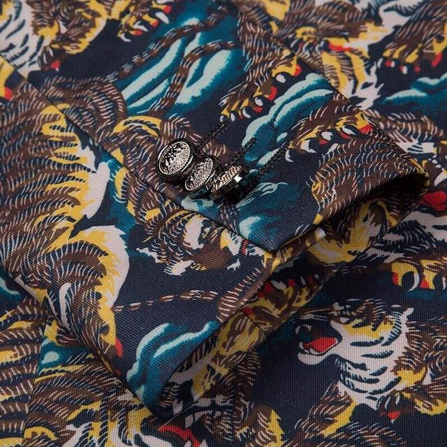 Fancy Suits For Men Mens Floral Blazer Slim Fit Blazer Masculino Casual Suit Jacket Pattern Printed Elegant Prom Party Q95