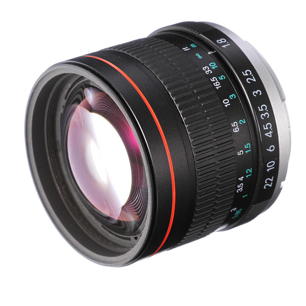 85mm F/1.8 Manual Focus MF <font><b>Lens</b></font> for <font><b>Canon</b></font> EOS T6i T5i T3i 5D 6D 7D Mark II 70D <font><b>80D</b></font> Camera image