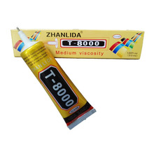5PACKS Hot ZHANLIDA T8000 complement drilling environmental protection glue phone shell shell beauty stickers 50ml(China)