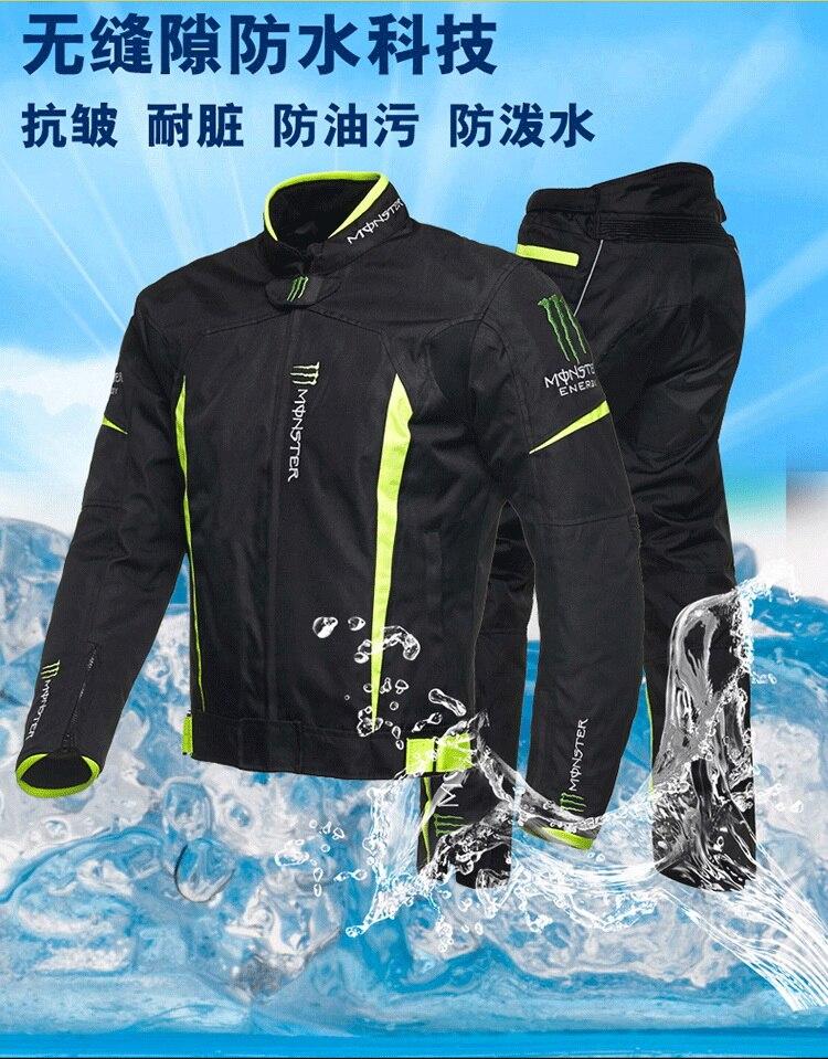 ФОТО All seasons Men's Motorcycle Jacket  Waterproof Men Professional Racing Jackets Plus M - XXXL Man Racing Motorcycle Jacket