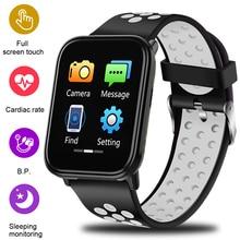 LIGE Heart Rate Fitness Tracker Watch Blood Pressure Smart Bracelet Full Screen Touch Smart Wristband Pedometer Sport Smart Band цена и фото