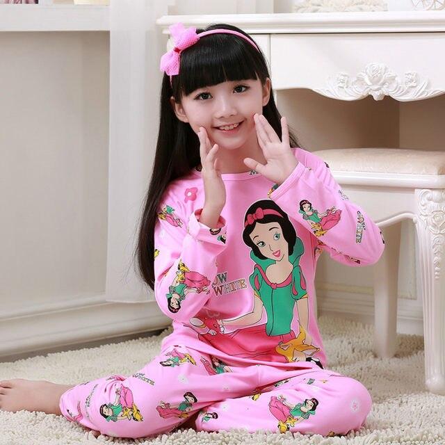 29b319608b40 cheaper 8e21a eba5d various 2pcs kids girls cartoon sleepwear ...
