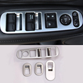 4 Pcs/Set Car Styling Interior Door Window Lift Switch Panel Decoration Cover For Honda HR-V HRV Vezel 2015 ABS Trim Garnish