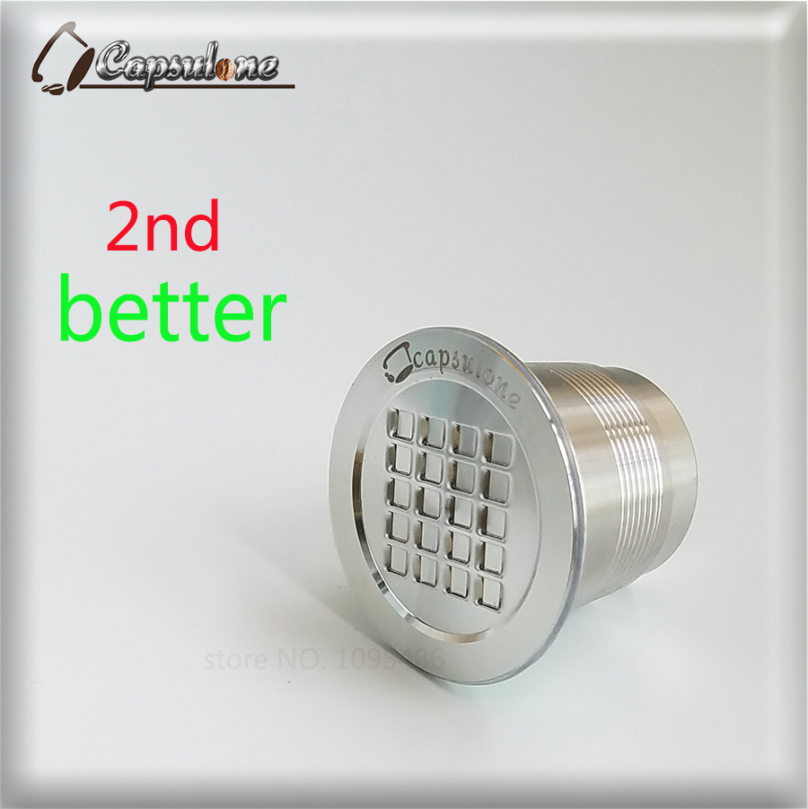 kapszulán rozsdamentes acél kapszula Nespresso géphez kompatibilis újrafelhasználható újrafelhasználható kávé kapszula / ajándék