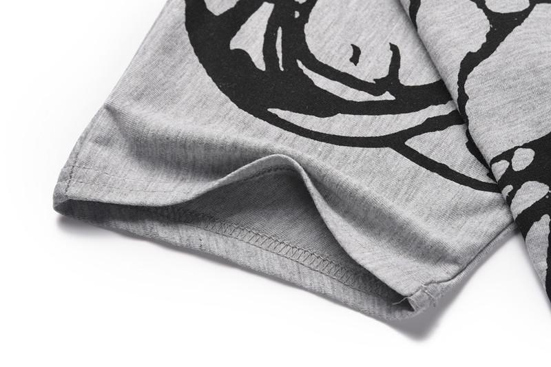 Women Skew Collar Butterfly Print Tshirt