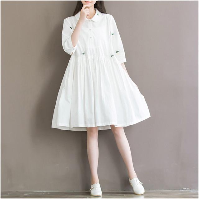 Mulheres de algodão de moda vestido de maternidade de verão 2016 algodão roupa de maternidade gravidez as mulheres se vestem