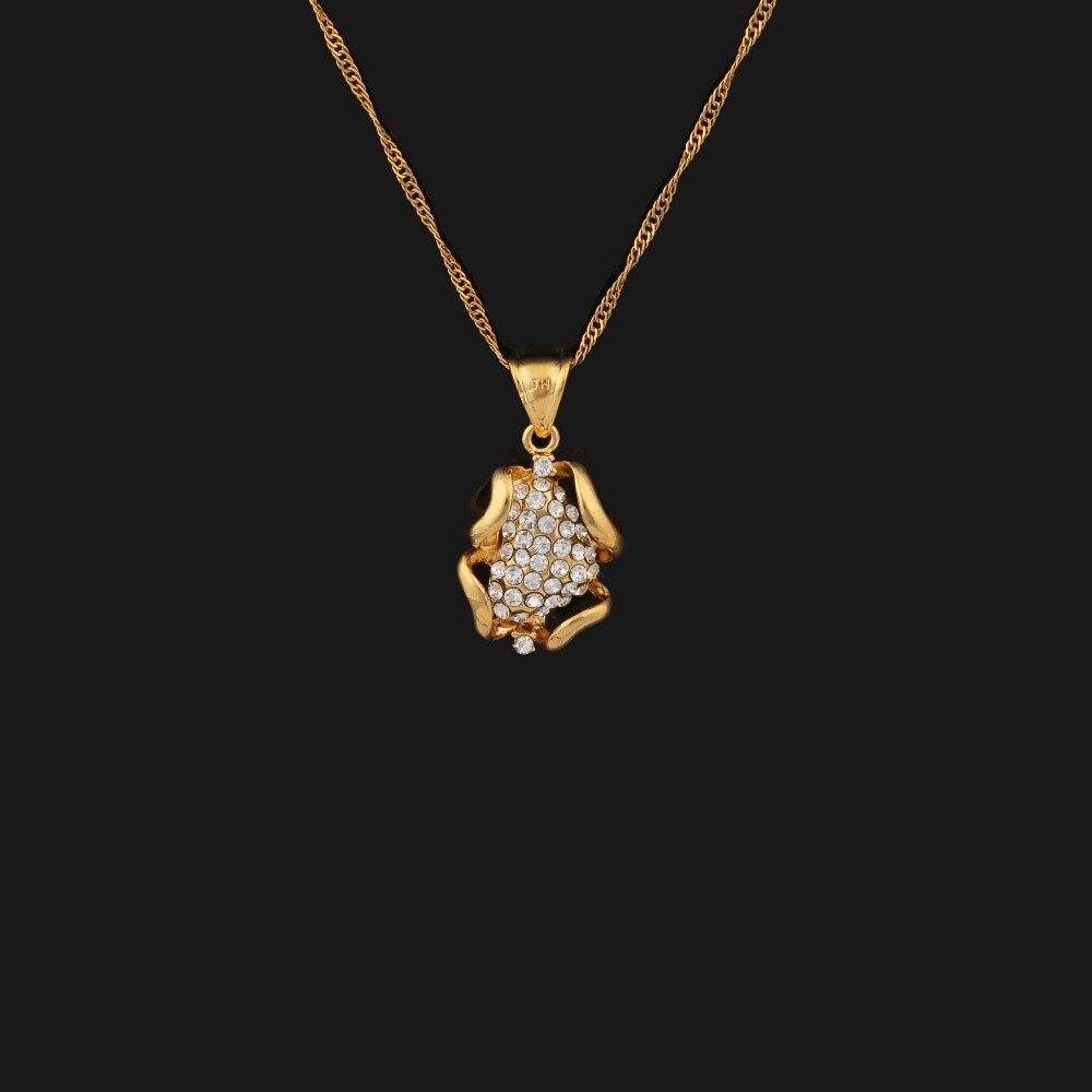 0205ba2d22f06 لون الذهب قلادة قلادة قلادة المجوهرات المسلمين الإسلامي للنساء والرجال
