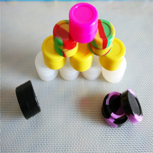 Round 7 Ml  Nonstick Wax Containers Silicone Box Big Rubber Wax Can Silicon Container Wax Jars Dab Storage Weed Jar