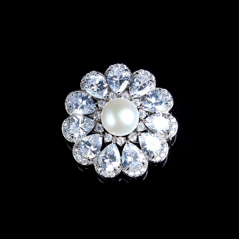 South Korea 100% natural freshwater pearl brooch female diamond corsage pin accessories collar scarf deduction cloak buckle все цены