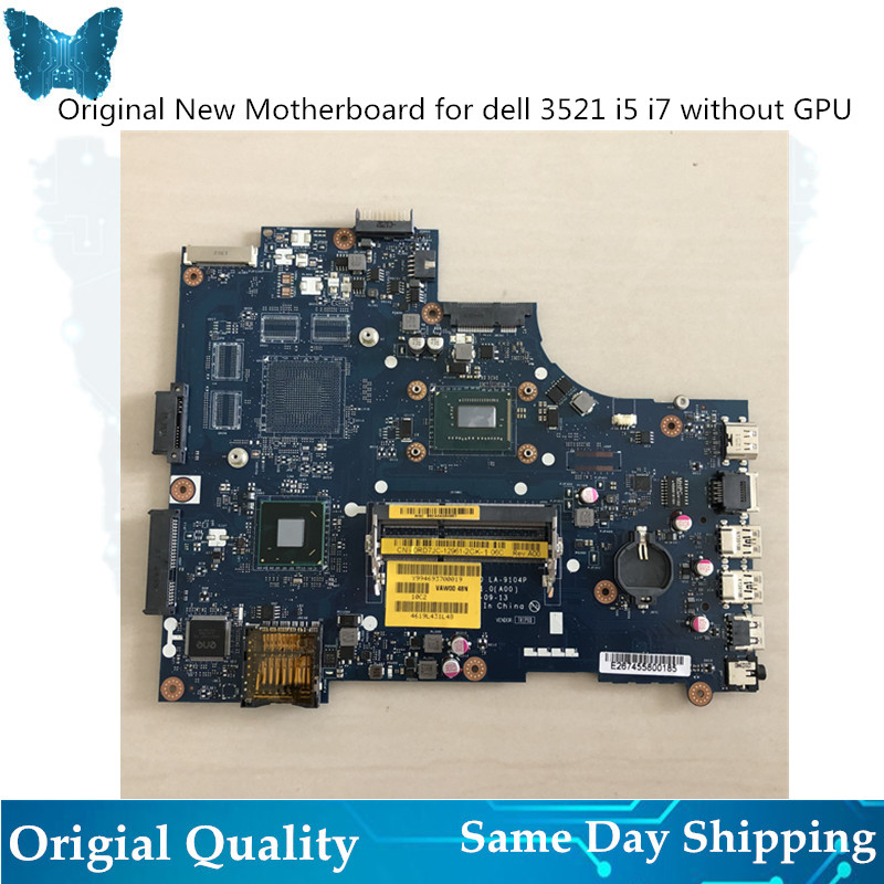 GIAUSA Laptop motherboard for DELL 15R 3521 5521  Mainboard I5 i7  LA-9104P fully tested DDR3GIAUSA Laptop motherboard for DELL 15R 3521 5521  Mainboard I5 i7  LA-9104P fully tested DDR3