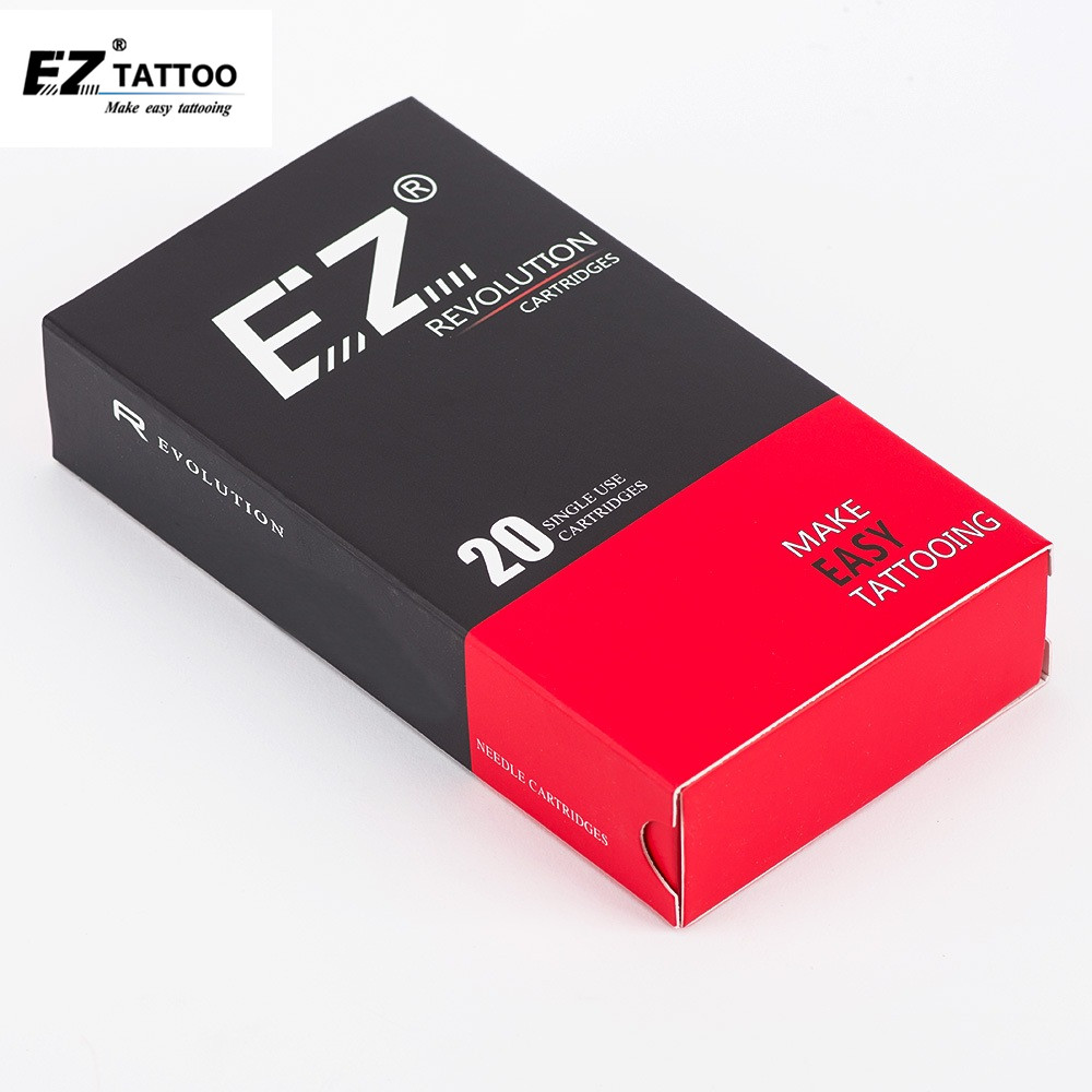 EZ Revolution Tattoo Needles Cartridge Magnum Curved Round Magnum # 10 (0.30 Mm )  Long Taper 5.5 Mm Tattoo Supply 20 Pcs /box