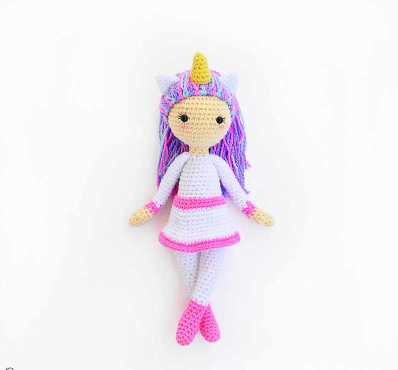 Crochet Unicorn Girl Doll Amigurumi Free Pattern | Doll amigurumi ... | 741x797