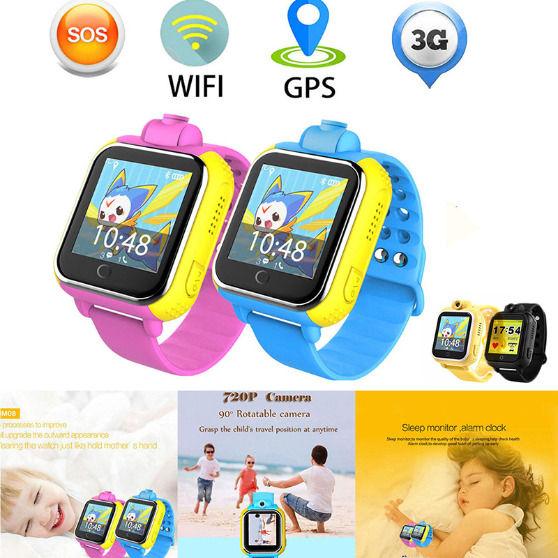 New Q730 3G Smart Watch for Children GPS Positioning Locator Tracker Smartwatch With Camera One Key SOS Kid's Watch Phone PK Q50 3g gps smart watch with sos call camera for children and old man security wacth trace record 3g location watch clock pk q730