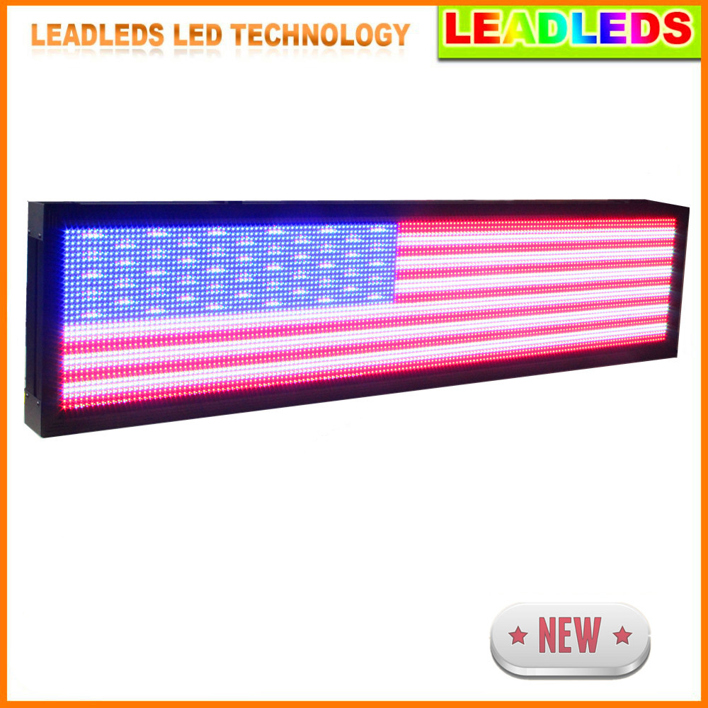 168 X 40cm P10 Outdoor Waterproof Full Color  Led Display Screen / LED Video Display Sign Board Use LAN Programming