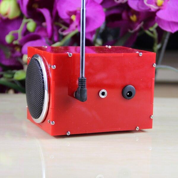LEORY DIY Mini DC 5V 2x3W Multi-function bluetooth Wireless Small Power  Amplifier Speaker Kit With MP3 AUX Radio