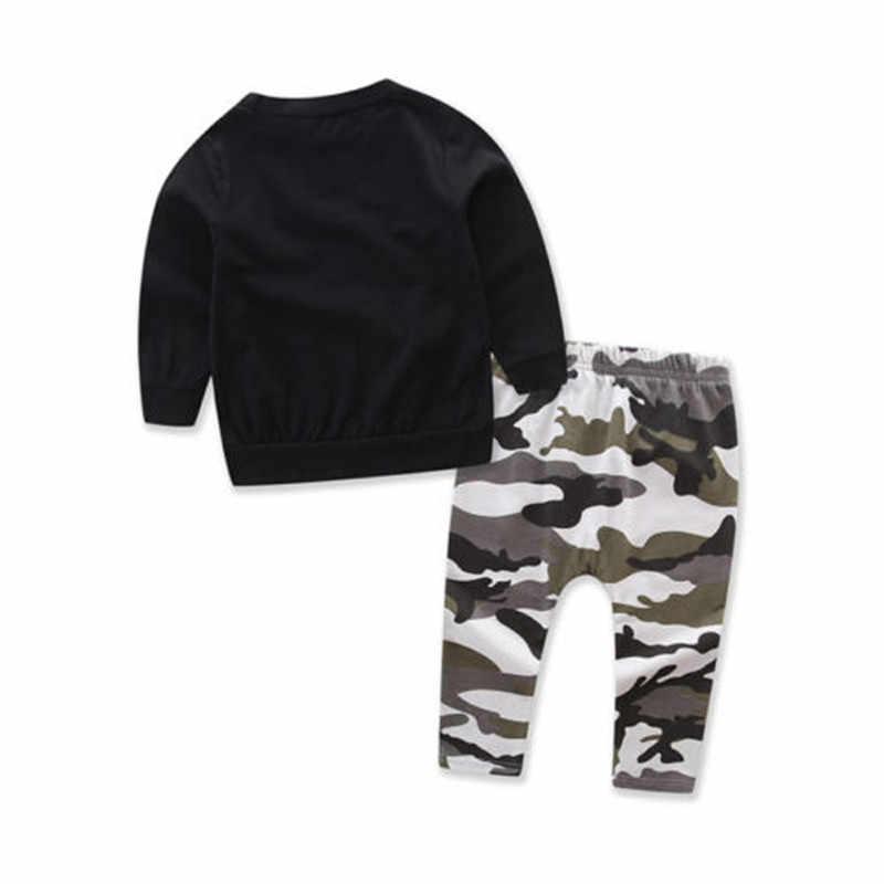 be23e0eabc284 King Letters Camouflage Kids Baby Boy Clothing Set Hoodies Coat Tops+Harem  Pants 2pcs Children Clothes Sweatsuits Outfits