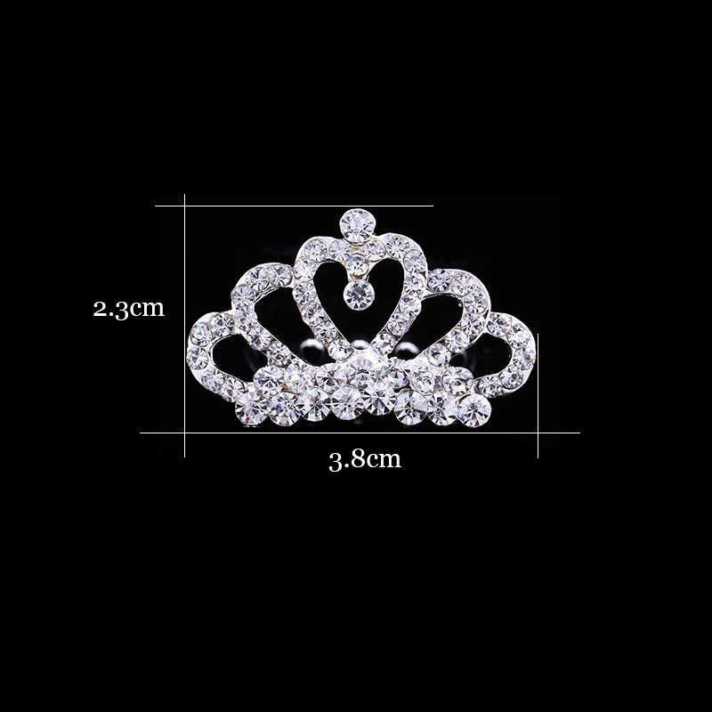 Clip de pelo brillante con diamantes de imitación diadema de corona para niñas pequeñas Tiara cabeza de Niños Accesorios de joyería para el cabello adornos para el cabello horquilla de bebé