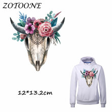 ZOTOONE Iron on Stickers Patches for Clothes Flower Animal Patch DIY Accessory A-level Heat Transfer Appliques C