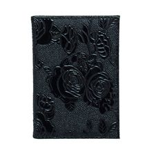 Portable PU Leather Floral Travel Passport ID Card Cover Holder Case Protector Organizer new pu leather passport cover holder women men travel credit card holder travel id card document passport holder
