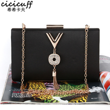 New Arrival Women Clutch Evening Bags Chain Shoulder Handbags Diamonds Pendant Tassel Fashion Party Wedding Day Clutches Wallet brand travel purse acrylic stone totes prom evening bag clutch wallet fashion women handbags party day clutches wedding bags top