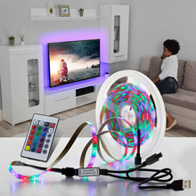 String Lights 5M RGB LED Strip 2835 5V USB Light For TV Background Lighting Decoration Fairy