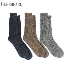 3PK Merino Wool Women/Men Socks Top Grade Brand Hemp Winter Warm Thick Coolmax Compression Hosiery Snow Boot Ladies/Male Socks