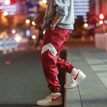 2018 fall new youth trend mens loose big size hip hop street tie casual sports pants