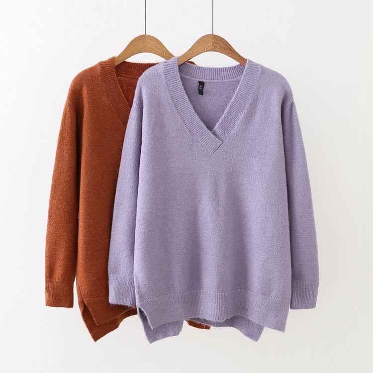 F7 осень-зима Свободные свитеры 4XL плюс Размеры женская одежда модные свободные вязаные свитера и пуловеры 215