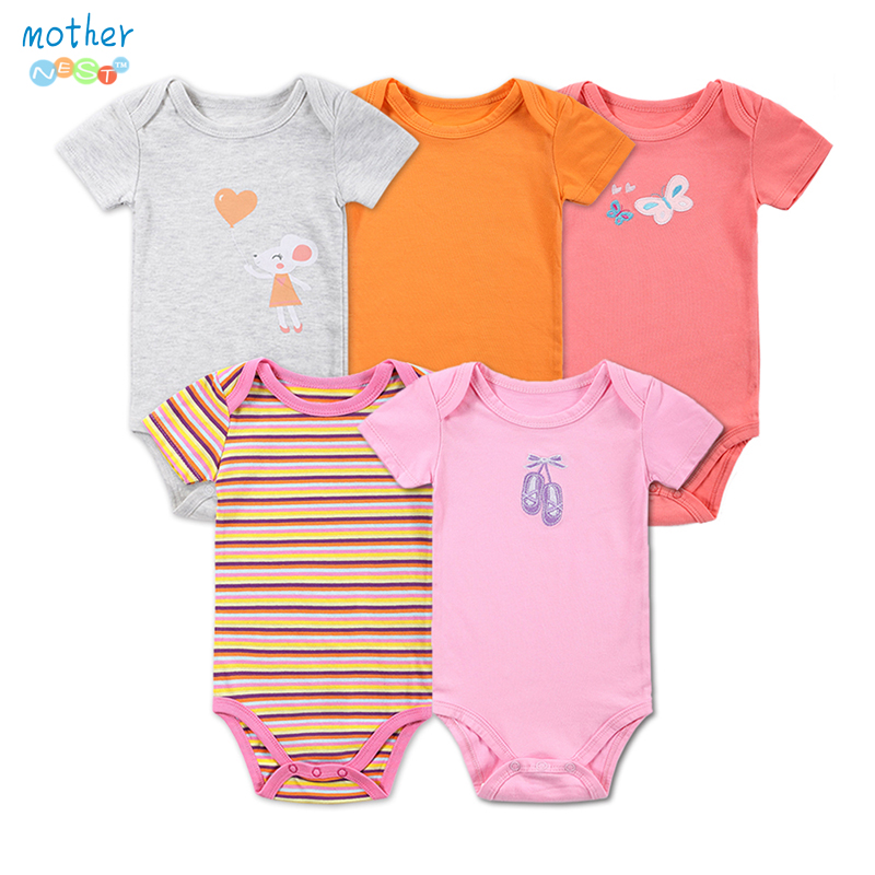 Baby Rompers 0-12Months barboteuse Short-Sleeved Baby Infant Recien Nacido Baby Girl Rompers Jumpsuits Clothing Newborn Clothes