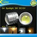 DC 12V G4 COB 3W LED Sportlight lamp White, warm white 250-300lumens LED Bulb,1pcs/lot