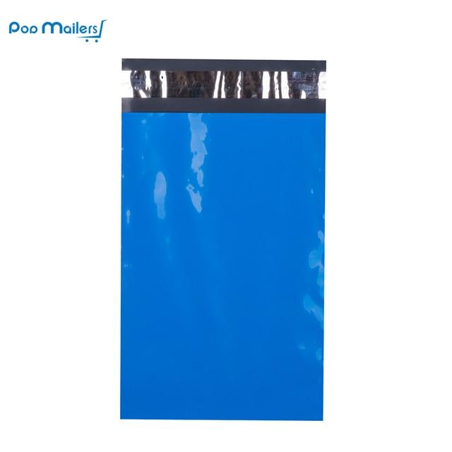 100pcs 15x23cm 6x9 אינץ כחול צבע פולי הדיוורים עצמי חותם פלסטיק תיקי מעטפת