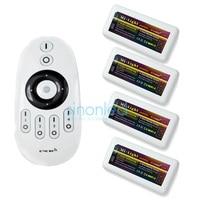 1x Afstandsbediening + 4x Ww/Cw Led Controller 2.4Ghz 4-Zone Draadloze Rf Afstandsbediening Voor Warm/koud Wit Led Strip Licht